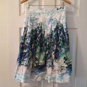 Classic Scenic Print Skirt